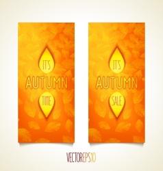Autumn quality design flyers vector