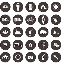 CampingIcons1 vector image vector image