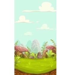 Cartoon meadow landscape vector image vector image