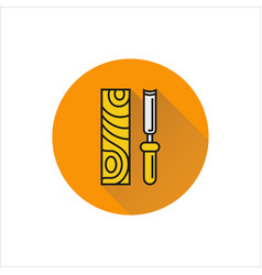 chisel icon on white background vector image vector image