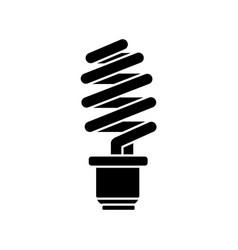 Contour save energy light bulb vector