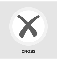 Cross flat icon vector