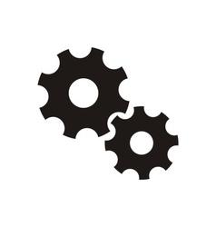 Gear wheels icon vector image vector image