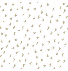 Gold stars on white background vector