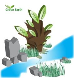 Green eart eps10 vector