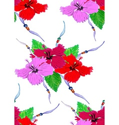 Hibiscus pattern4 vector image