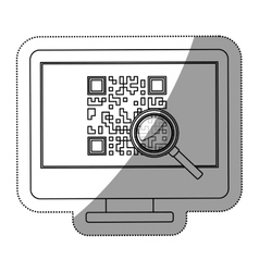 Isolated qr code and computer design vector