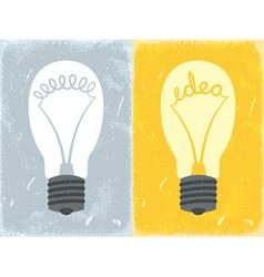 Lightbulb with idea vector