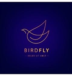 line bird logo pigeon silhouette flying vector image vector image