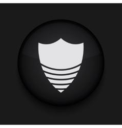 Modern shield black circle icon vector