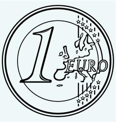 One euro coin vector image
