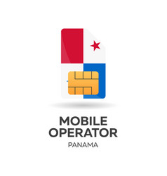 Panama mobile operator sim card with flag vector