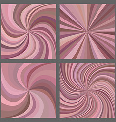 Pink spiral and starburst background set vector image
