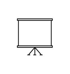 presentation slide board icon vector image vector image