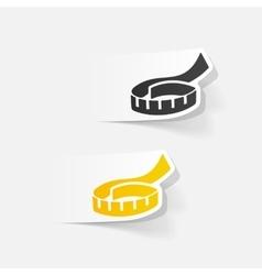 realistic design element tape measure vector image