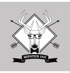 Reindeer animal hipster style vector