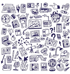 Science - big doodles set vector