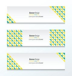 Triangle pattern Green And Yellow Styles vector image vector image