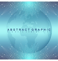 Graphic abstract background communication vector