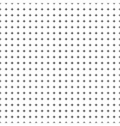 White background with seamless black crosses for vector