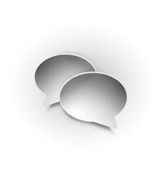 Paper speech bubble icons vector image