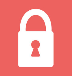Flat heart lock icon vector