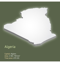 3d map of algeria vector