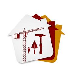 Construction of buildings symbol vector