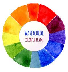 Handmade color wheel isolated watercolor spectrum vector