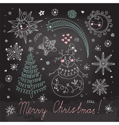 Christmas elements for design vector