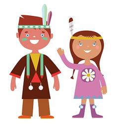 Indian kids vector
