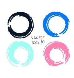 Painted circles set vector