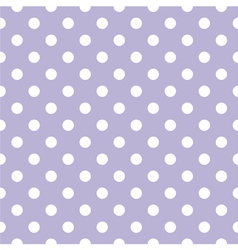 Tile white polka dots on violet background vector