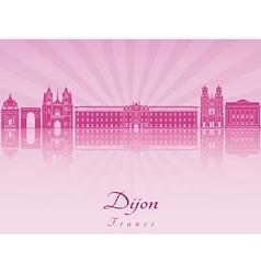 Dijon skyline in purple radiant orchid vector image
