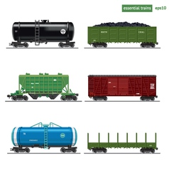 Essential trains vector