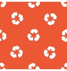 Orange recycle pattern vector