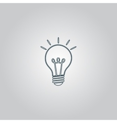Light lamp sign icon idea symbol vector