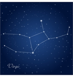 Virgo constellation zodiac vector