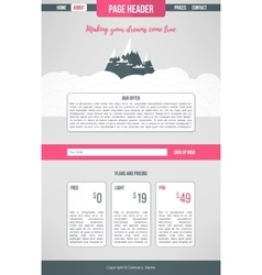 Landing website template landing page design vector