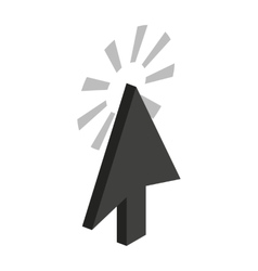 Trace from cursor icon isometric 3d style vector