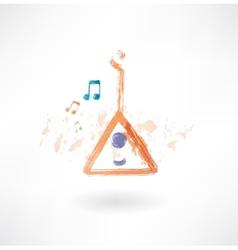balalaika grunge icon vector image