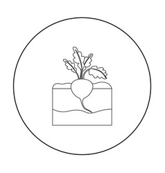 beet icon outline single plant icon from the big vector image