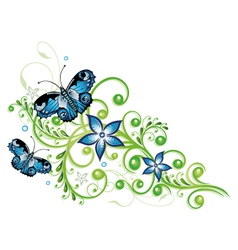 Blue flowers series vector image vector image