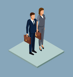 Business couple 3d vector