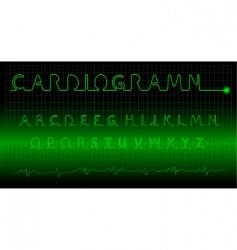 cardiogram alphabet vector image vector image