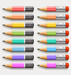 collection of pencils vector image
