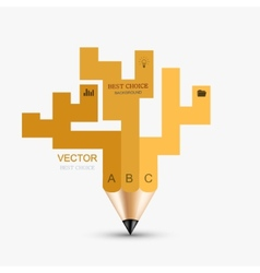 Concept pencil element design vector