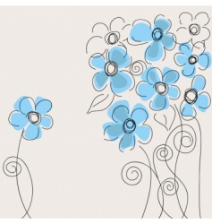 cute flowers vector image