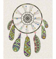 Decorative dream catcher vector image