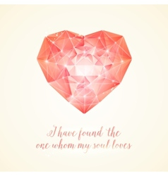 Diamond heart for your design vector image vector image